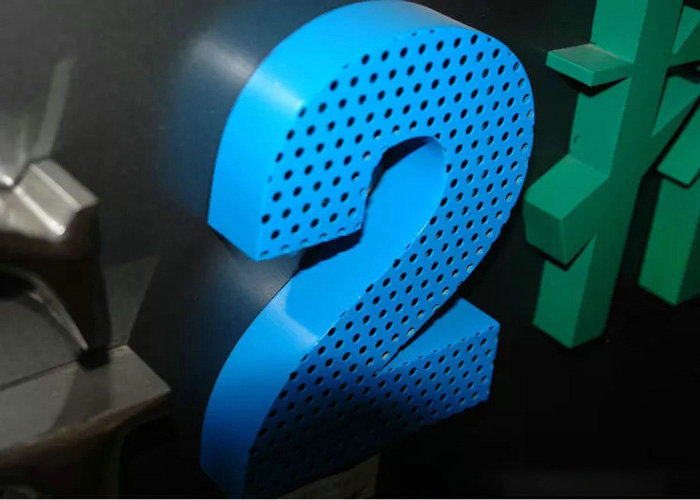 Laser cutting stoving varnish Punching letter sign