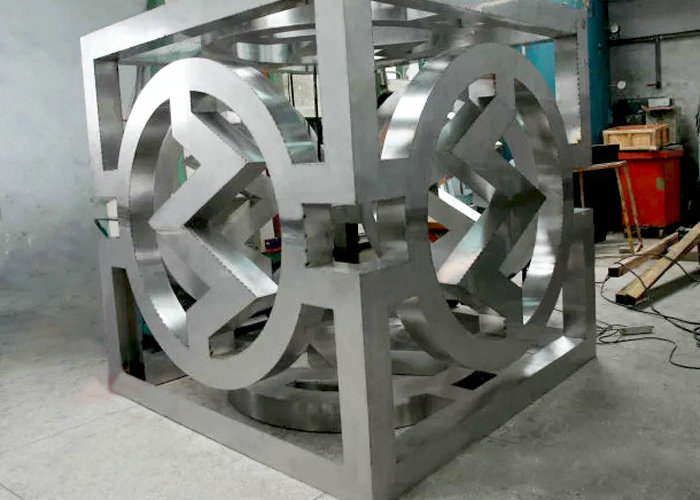 large stainless steel abstract plating 3d wall art sculpture Metal Model