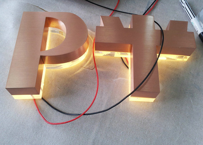 Acrylic laser cut backlit crystal letters