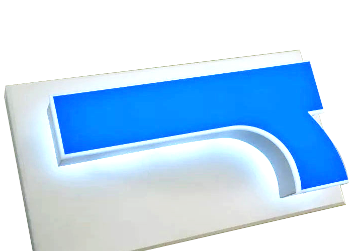 Direct sales led luminous resin letter logo
