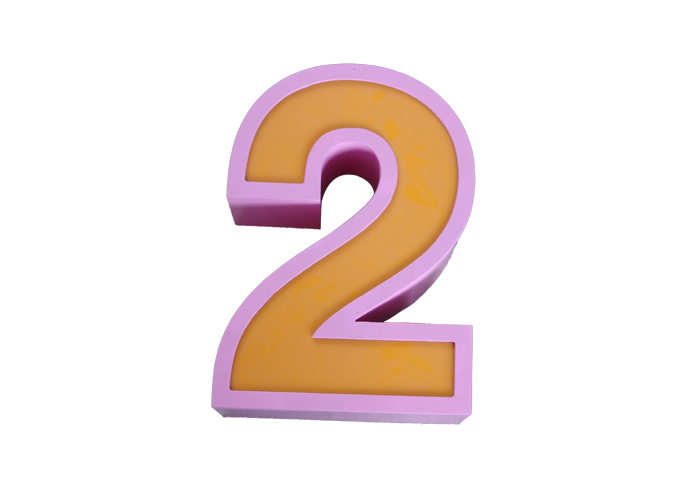 3D curved edge metal decoration Light box letter