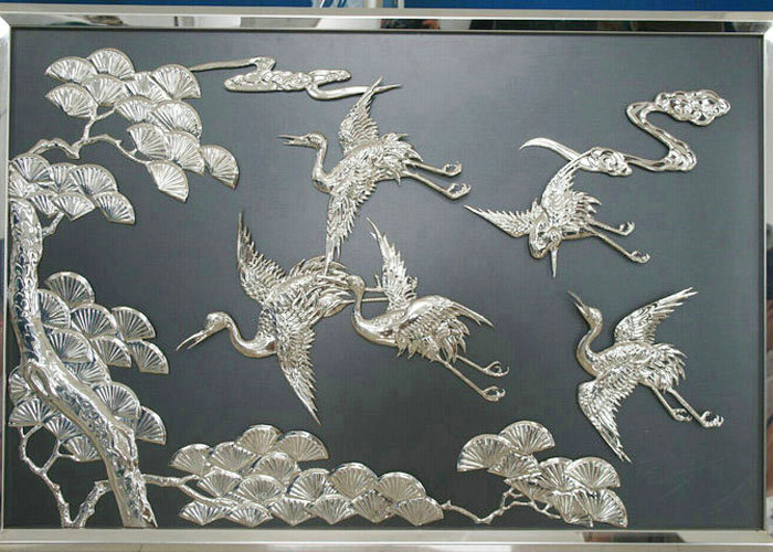 Direct sale wall art vintage brass flower relief sculpture for home decoration