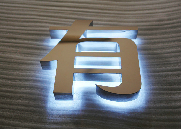 Back-lit crystal letter