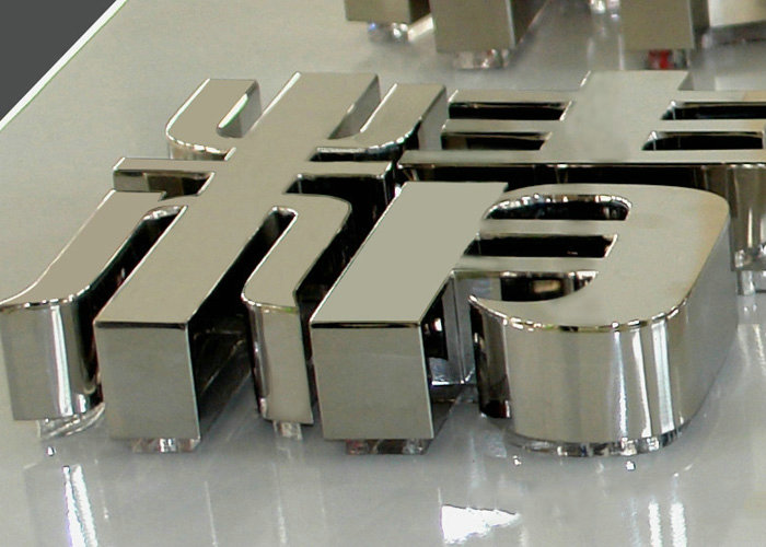 Mirror stainless steel letter