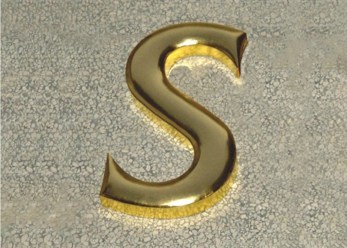 High-quality round-edged polished galvanized stainless steel letters