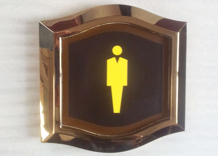 Export customized hotel mall toilet signs