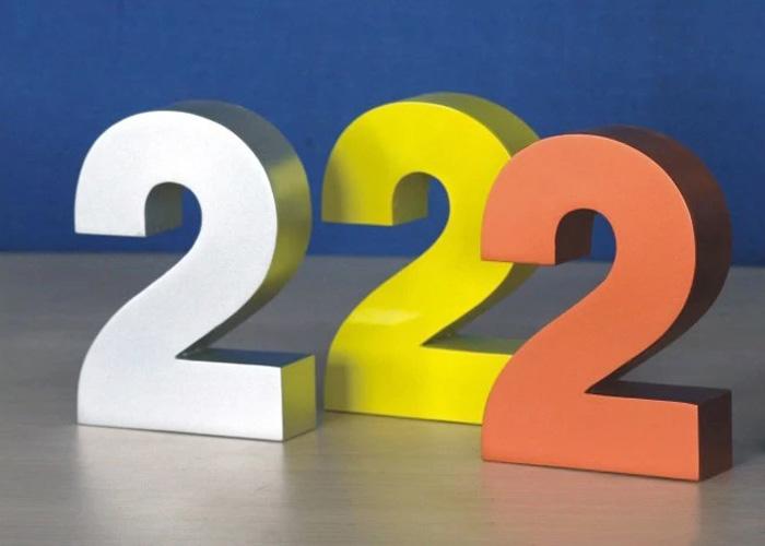 3d three-dimensional aluminum digital sign
