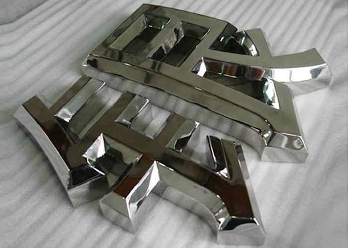 Wall decoration polished mirror stainless steel letters