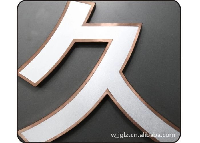 Stainless steel burnishing UV Color letter Sign