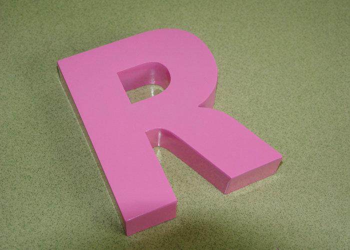 Export aluminum laser cut letter logo