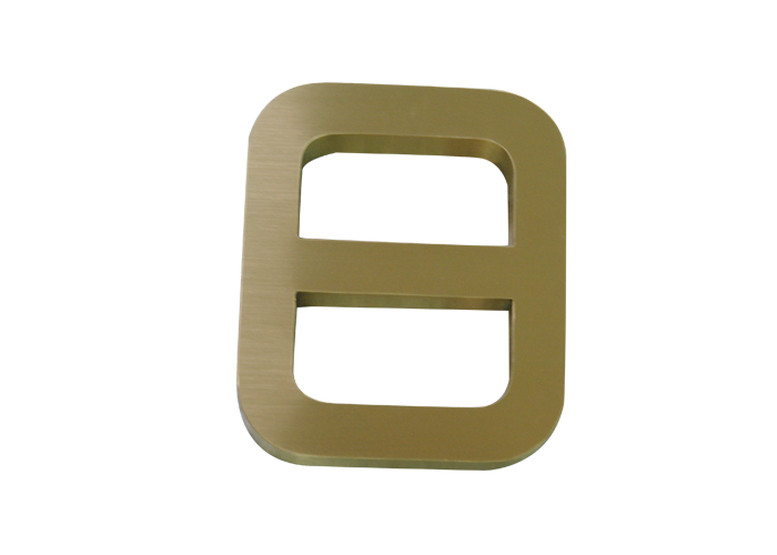 High quality brushed stainless steel solid thin layer letters
