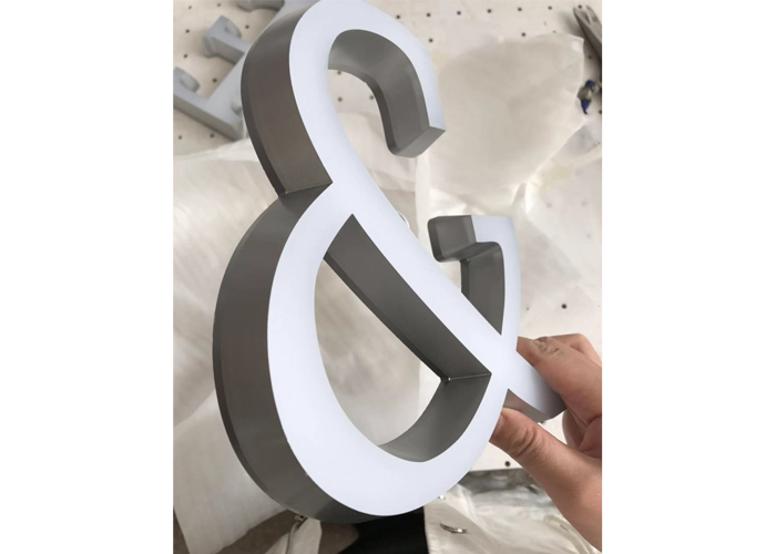 Stainless steel party decoration paint mini letters