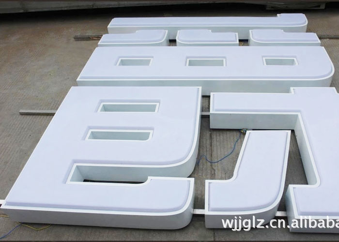 Large outdoor advertising light box signs