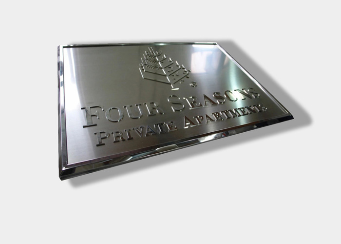 Stainless steel metal galvanized sign wall label