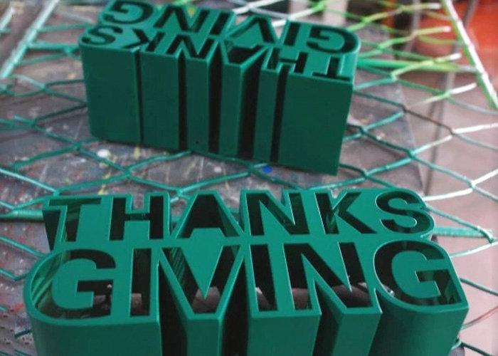 Export 3D Laser cutting light box aluminum letter sign