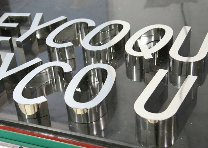 High-edge mirror stainless steel letters that can be pasted