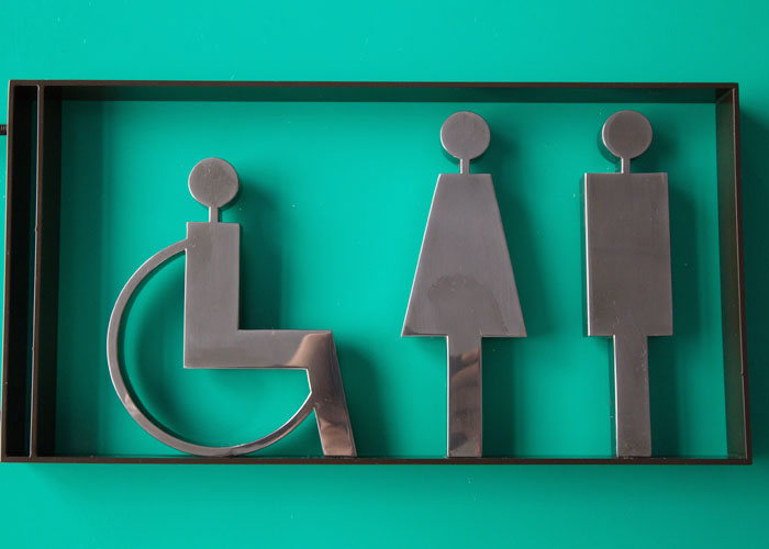 Made WC toilet metal Artistic modeling signs